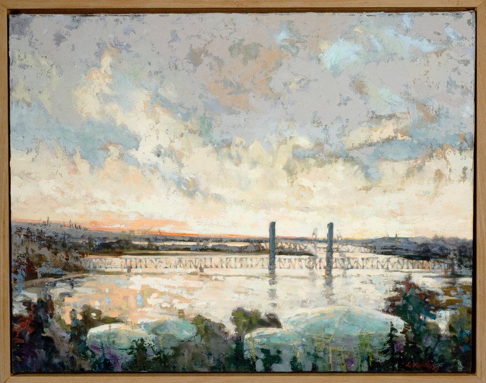 Piscataqua River, oils, 24 x 18