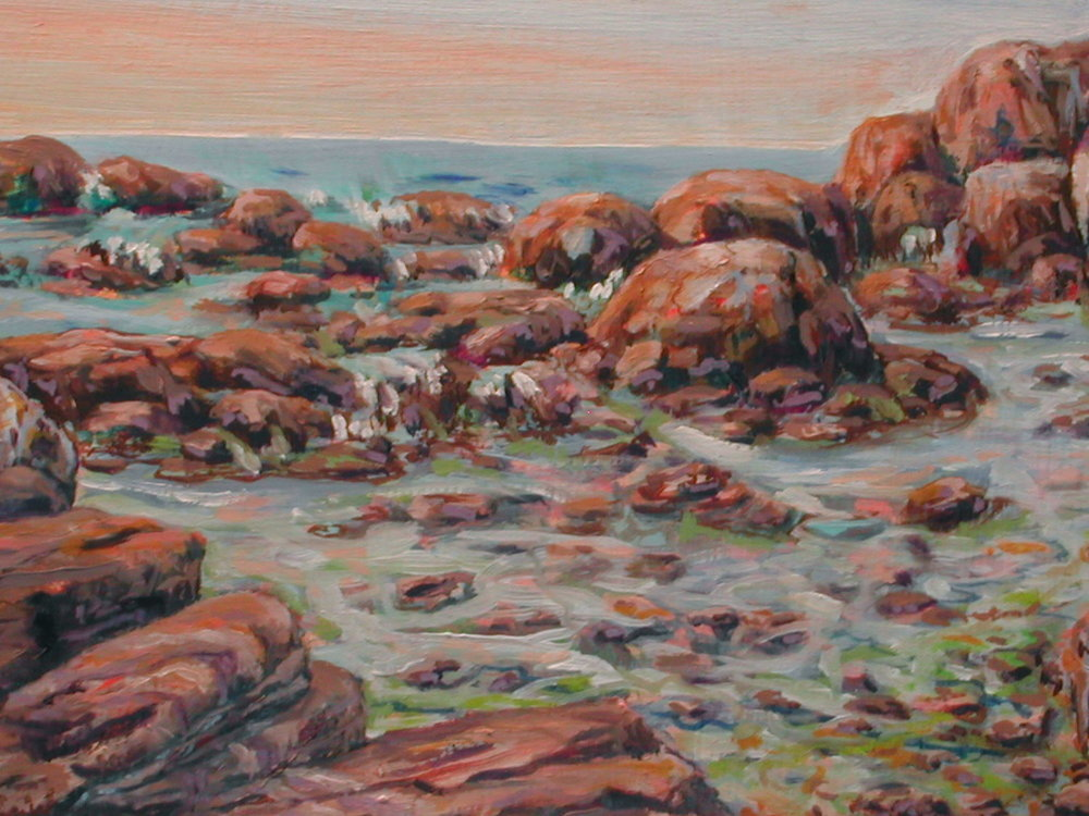 Tidal Pools, oils, 9 x 12