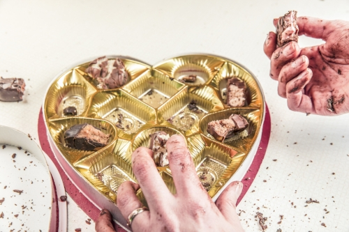 Is this you?  You decide to have 'some' chocolate - and then suddenly, it's all gone?