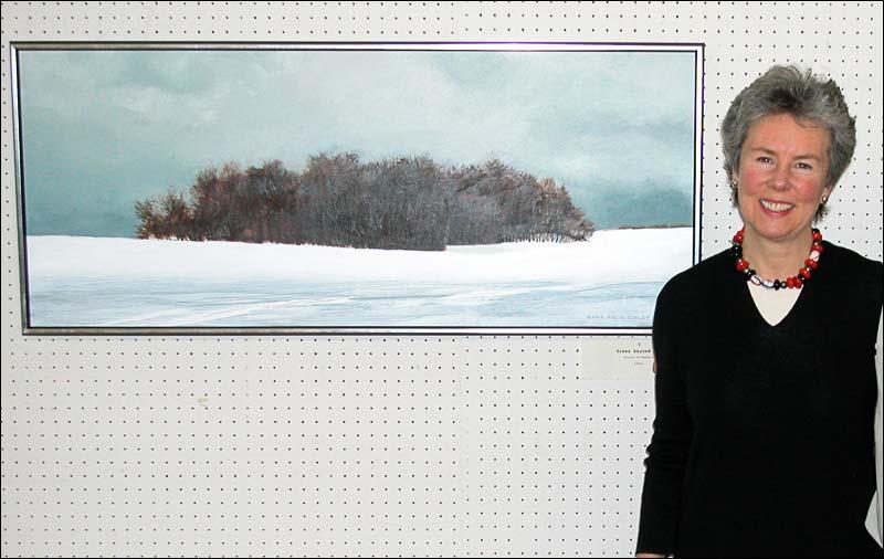 Sara Peck Colby vit à Montréal, mais puise son inspiration principalement de la régions des Cantons de l'Est. Ses paysages d'hiver et d'été sont également très populaire et nous avons une grande sélection de ses oeuvres dans notre galerie d'art! Cliquez sur la photo pour voir les oeuvres.