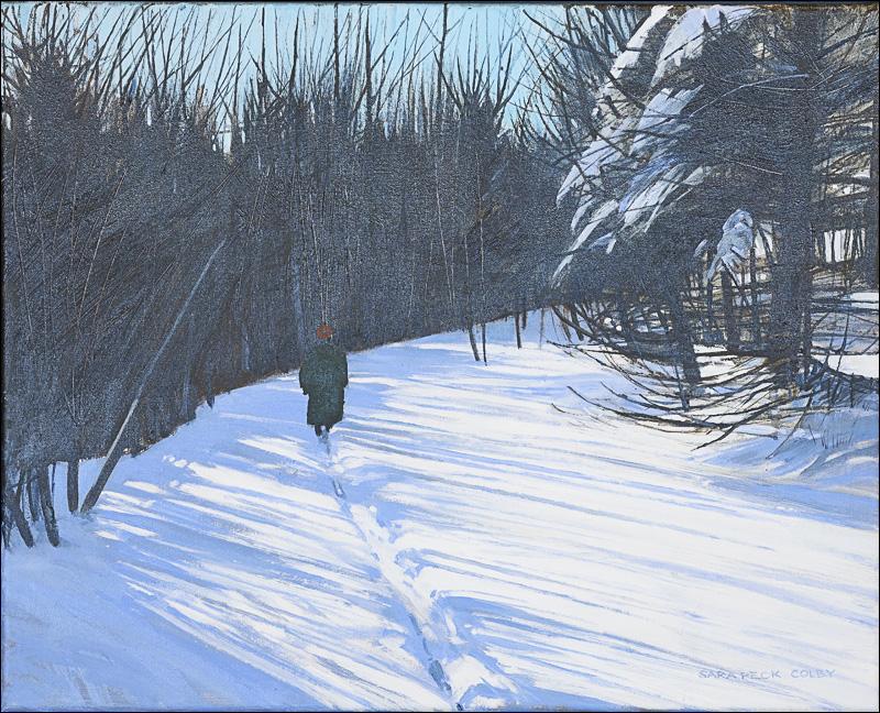 """Walking on the Winter Path"" - 16"" x 20"""
