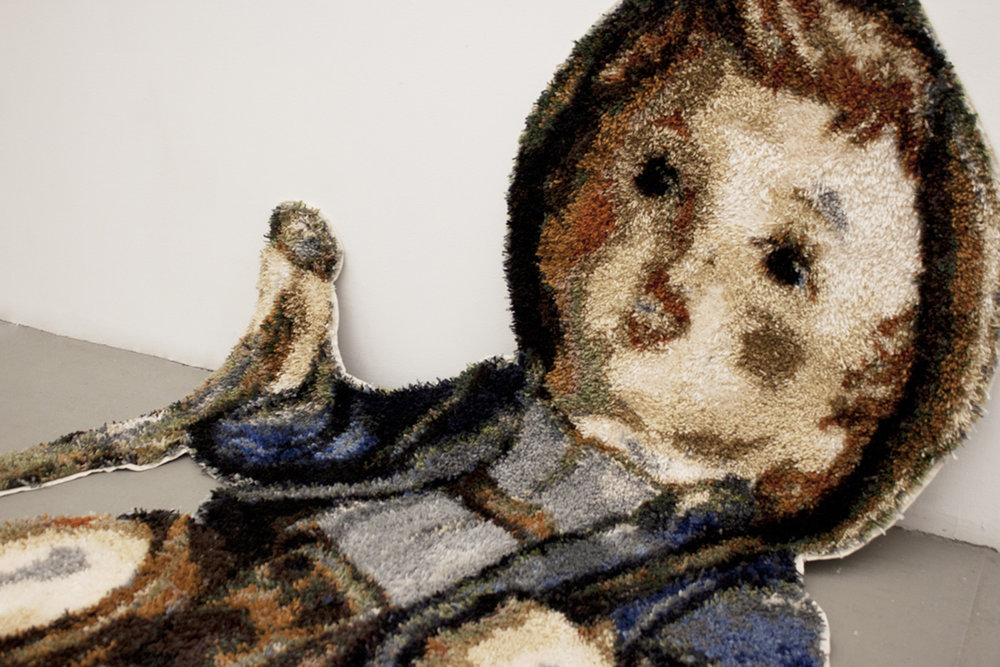 "Kleiner Bergsteiger  2012 Handmade latch hook rug 144"" x 72"""