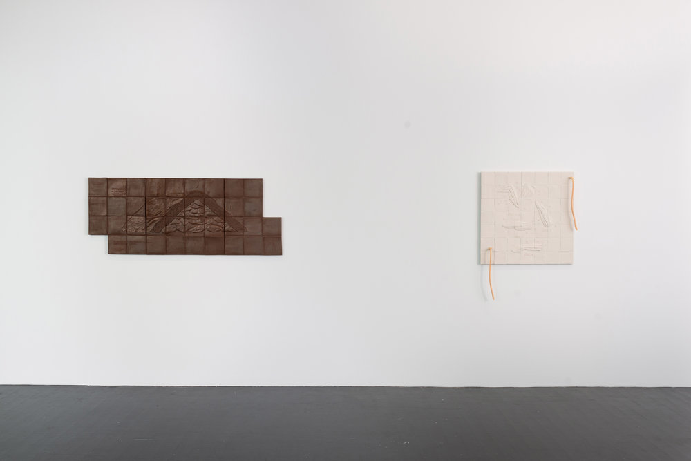 Installation View (Left to Right, Harvesting Methods (Yam Heap), Flats and Rounds) MCA Denver (2018)  Photograph courtesy of MCA Denver