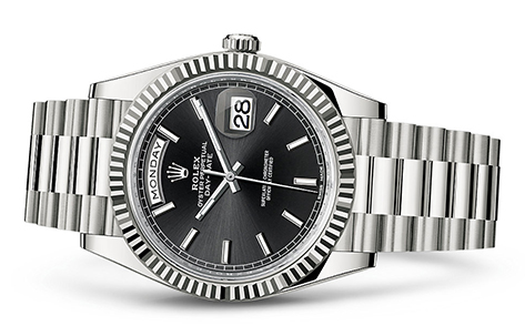 Rolex Day-Date 40mm 18K White 228239  Retail Price: $37,550  Our Price: $29,285   Call for additional savings: 215-922-4367