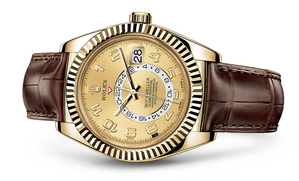 Rolex Skydweller 42mm 18K Yellow 326138  Retail Price: $38,150  Our Price: $30,550   Call for additional savings: 215-922-4367