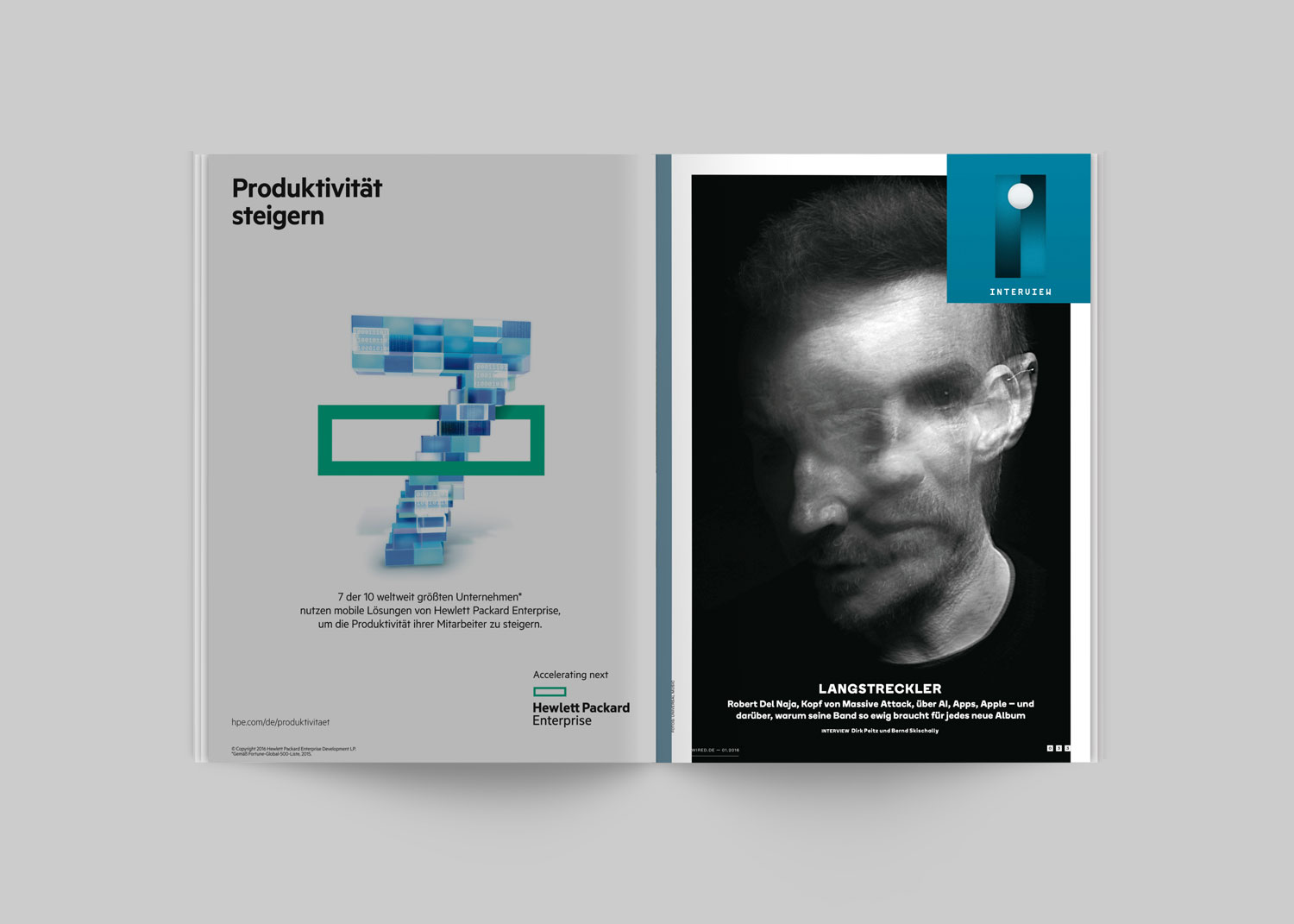 Benjamin Pollach – Art Direction — Wired Germany — Font Design