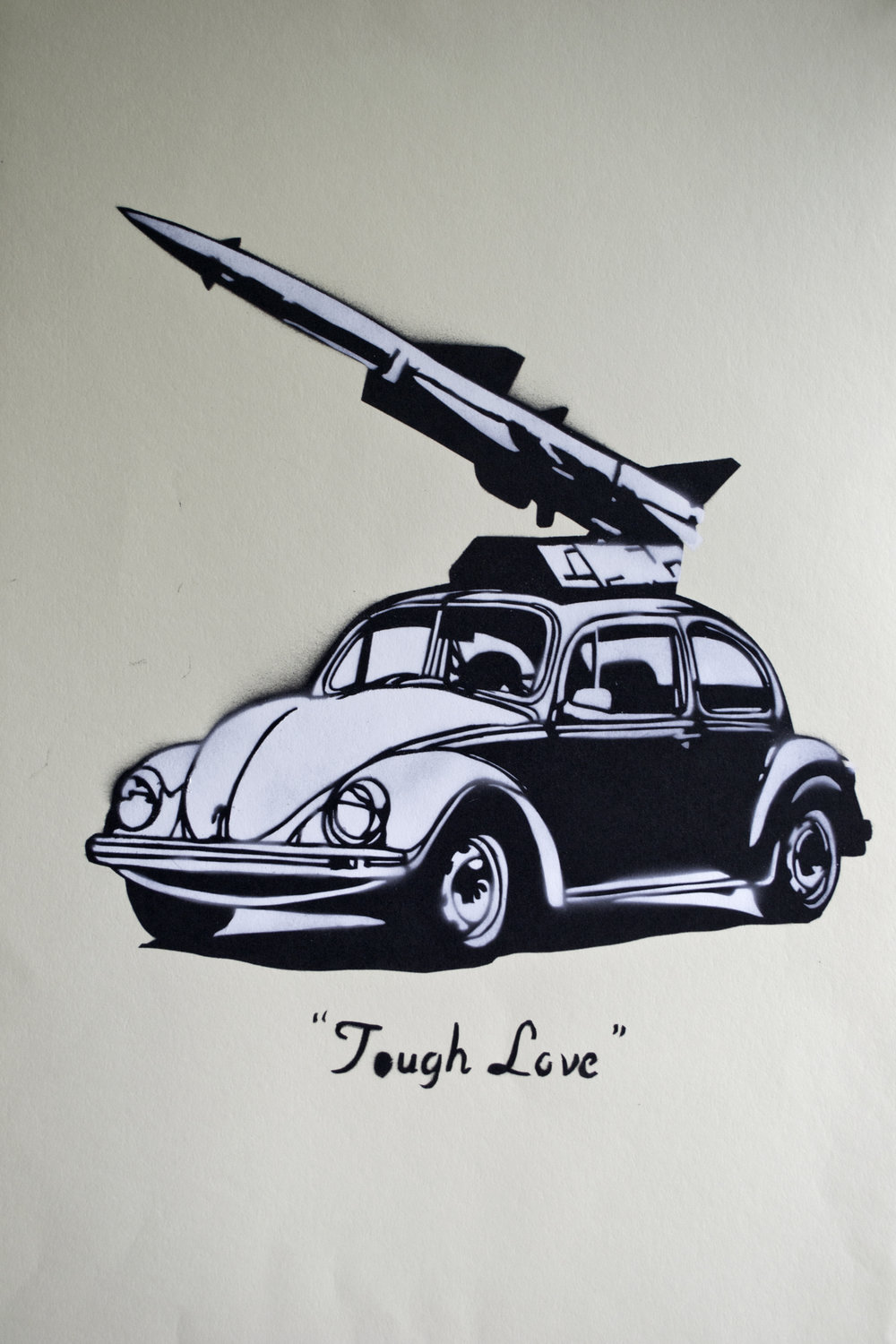 Tough Love  Spray Stencil  2016