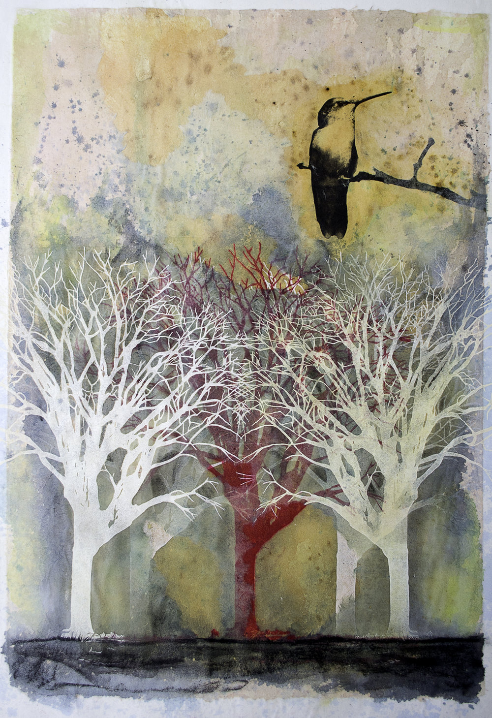 Red Tree   Mixed Medium  2012