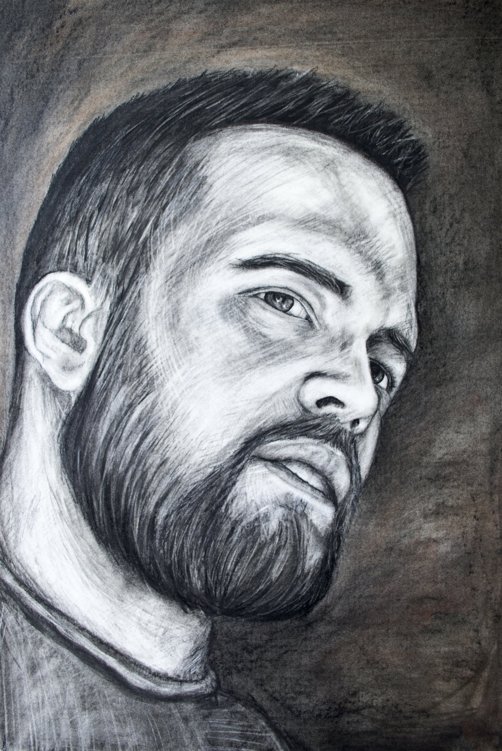 Self Portrait   Charcoal  2014