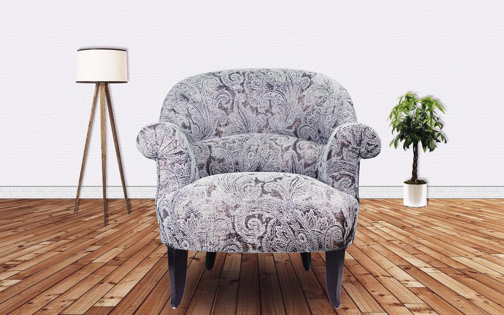 Réfection du siège Crapaud avec tissus Swing et Maxi (Höpke). Tapisserie d'ameublement, diagnostique du siège, atelier comptoir du siège