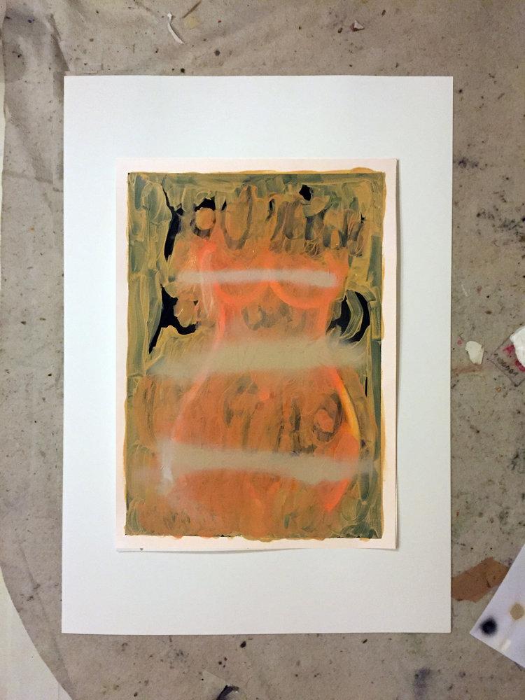 ultralight   oil and spray on paper / 70cm x 50cm