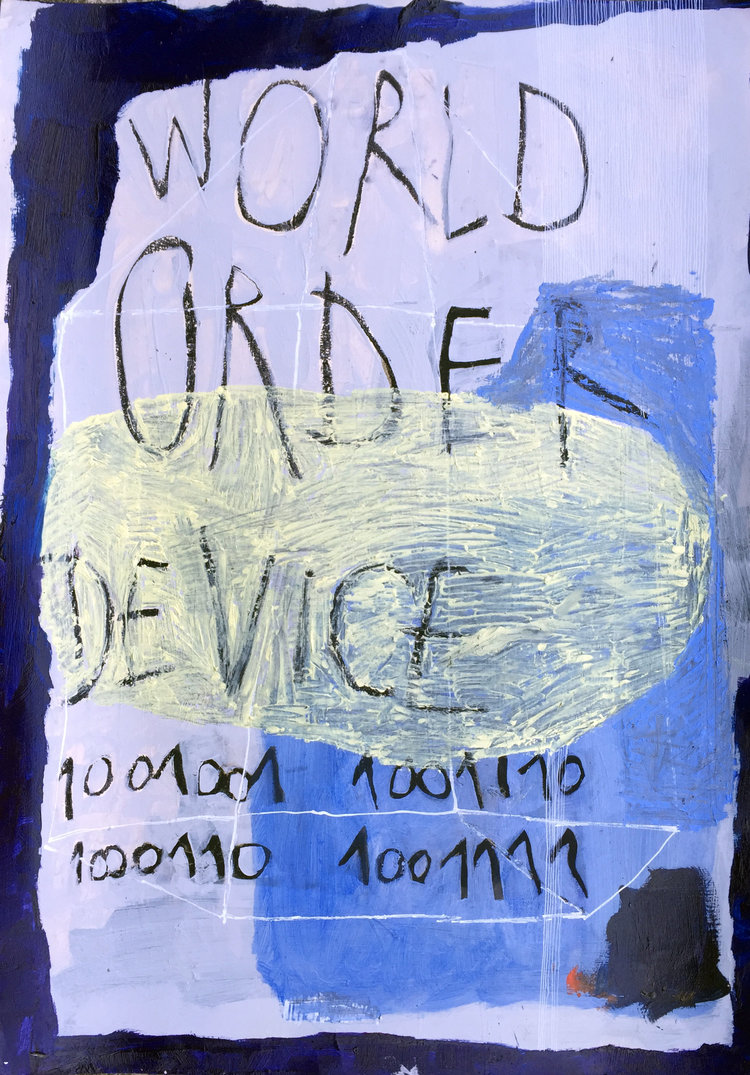 World Order Device   oil and oil pastel on paper / 70cm x 50cm