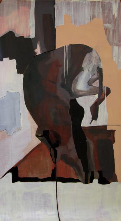 Nico   oil on paper / 150 x 80 cm