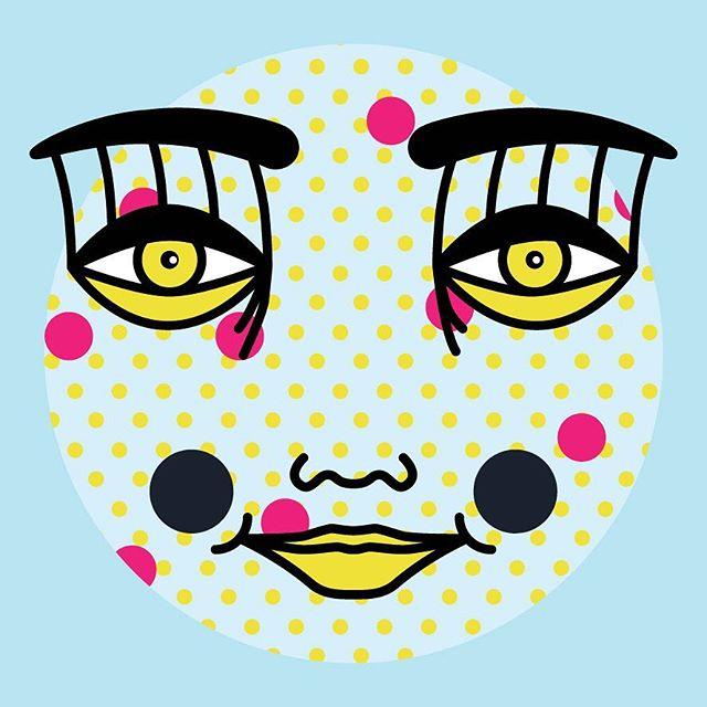 Moonface baby #holidaydiddles #digitalillustration