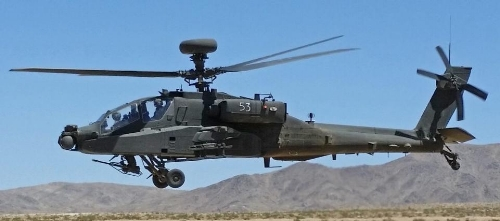 The 2017 budget compromise Congress reached will provide $774 million for 52 remanufactured AH-64E Apache attack helicopters, $262 million for seven new Apaches, and $72 million for long-lead items used in ten additional Apaches. The Apache is built by Boeing. (Wikimedia)
