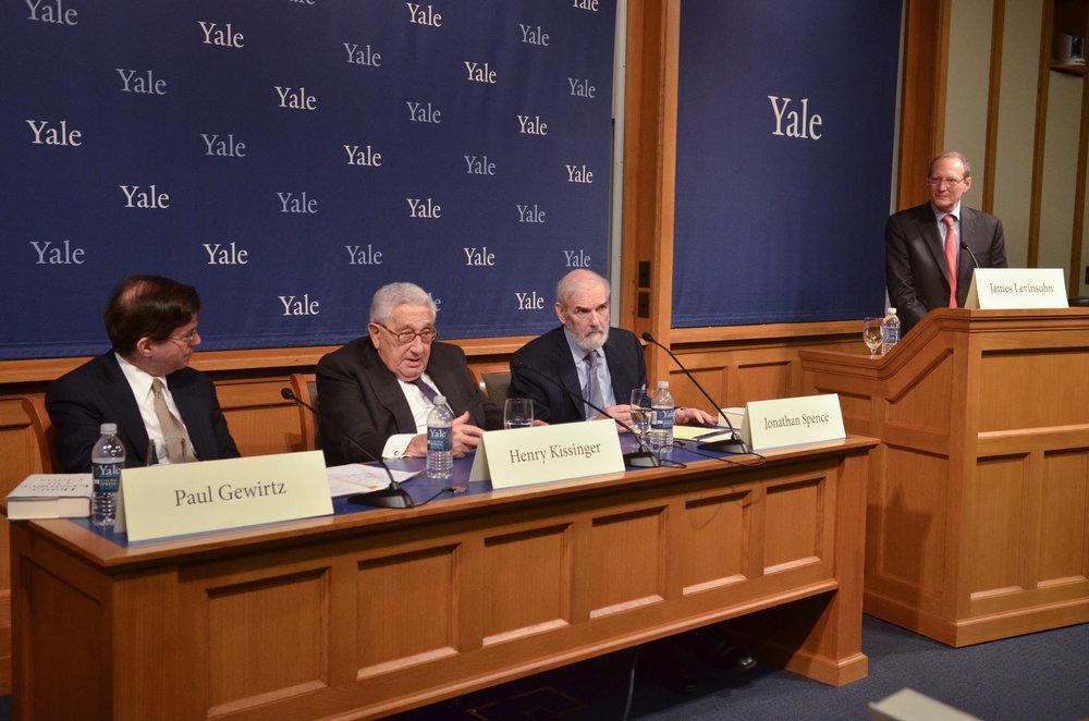 Paul Gewirtz, Henry Kissinger, and Jonathan Spence