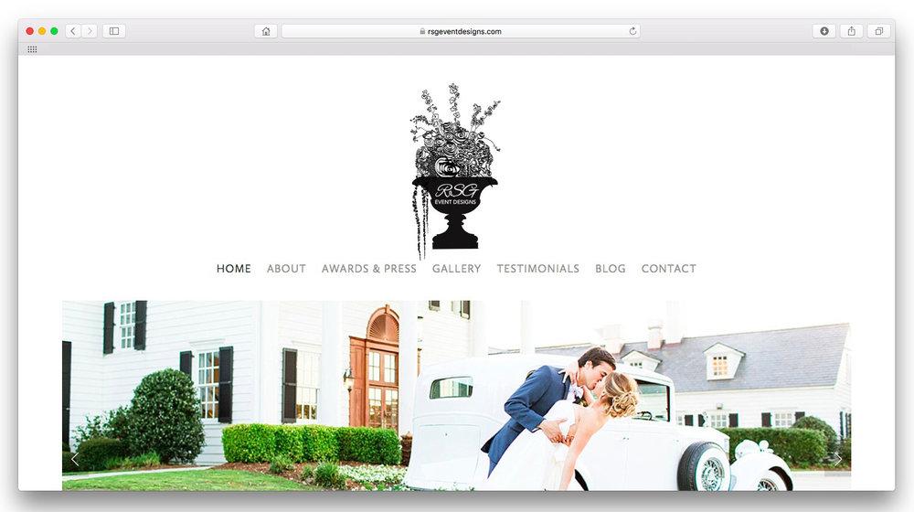 RSG Event Designs.  A premiere event design company. Website and custom logo design.  www.rsgeventdesigns.com