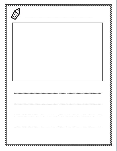 Blank Writing Template 2  Letter Writing Template