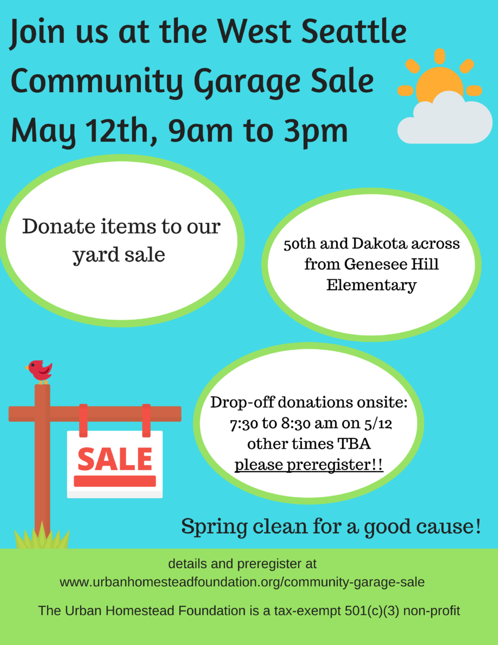Events urban homestead foundation west seattle community garage sale solutioingenieria