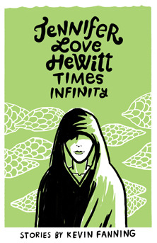 The cover of  Jennifer Love Hewitt Times Infinity . A person stands facing the viewer, wrapped in a robe or shawl.