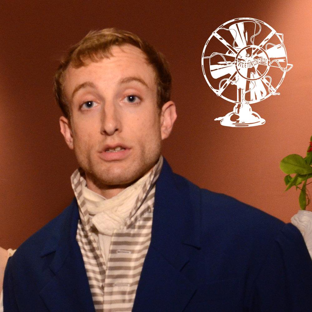 Episode 76's cover: a head shot of Ted Scheinman, wearing Regency attire.