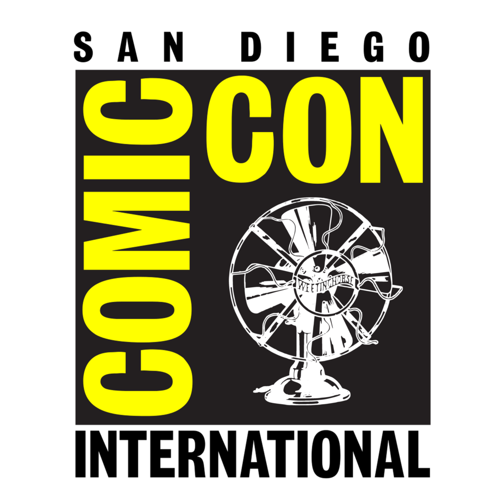 Episode 79's cover: the San Diego Comic-Con logo