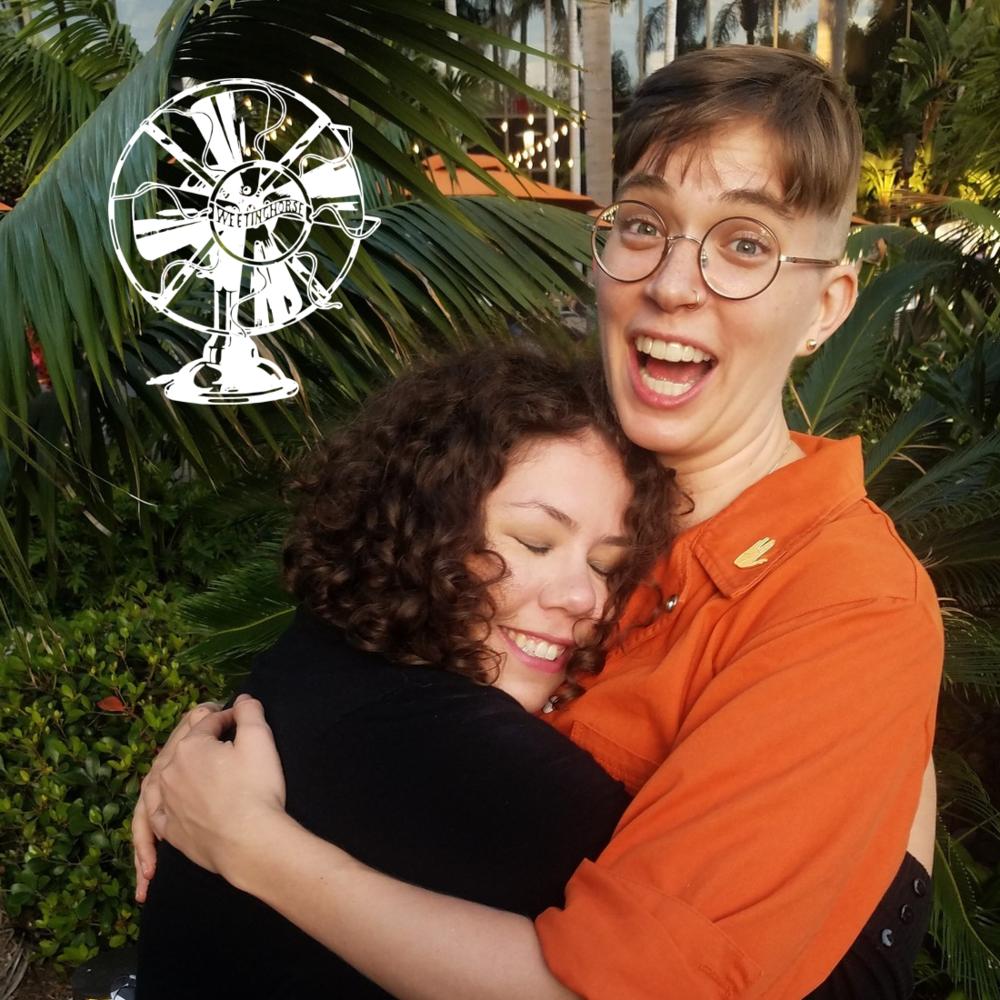 Episode 81's cover: Elizabeth hugs Flourish enthusiastically.