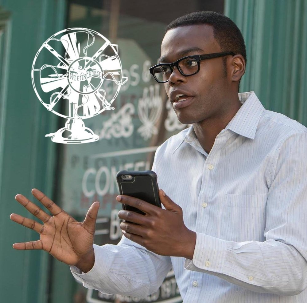 The cover of Special Episode 6: Chidi looks anxious.