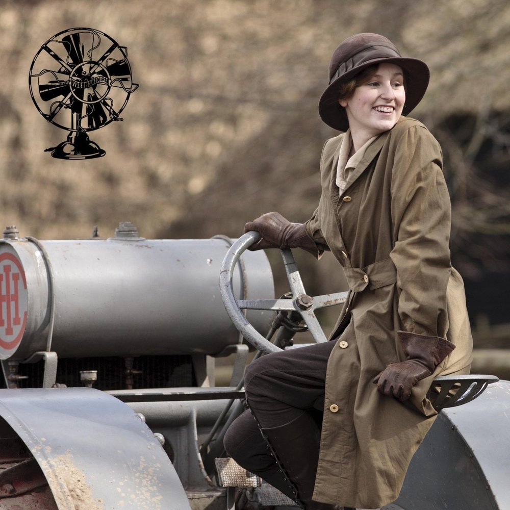 Special Episode 9's cover: Lady Edith driving.