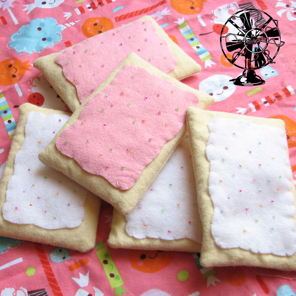 The cover of Episode 93: handmade felted Pop-Tart plushies.