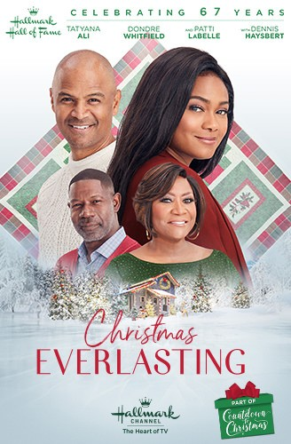 The poster for  Christmas Everlasting , featuring Tatyana Ali, Dondre Whitfield, Patti LaBelle and Dennis Haysbert.