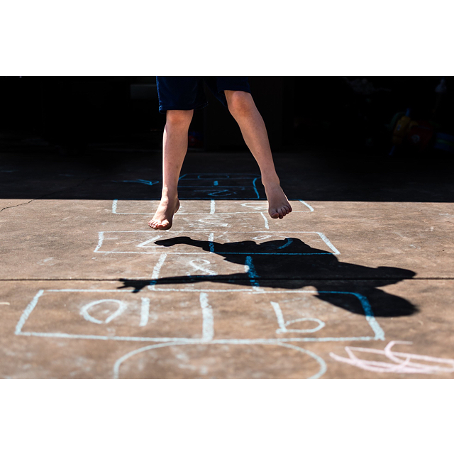 I loved playing hopscotch as a kid. Last week, I showed the kids and they loved it! I love how my youngest is at the age where he wants to do everything we do. Even though, sometimes, that's not always a good thing. 😜