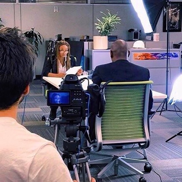 """Filming in session """"The Interview."""" 🎥🎬 #TBT #shooting #film . . . #repost #director @motickles  #cinematography @k10ud  #actors @henrybrownfun #celissegraves"""