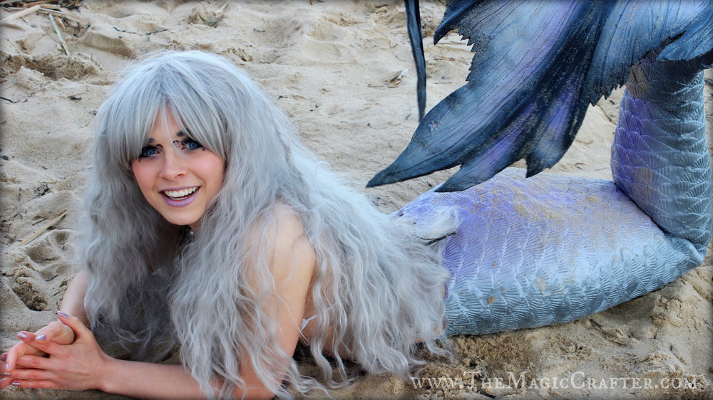 The worst thing about being a mermaid is getting a sore jaw from smiling all of the time... I swear! Wearing my tail just makes too happy! Such a pain! ;D