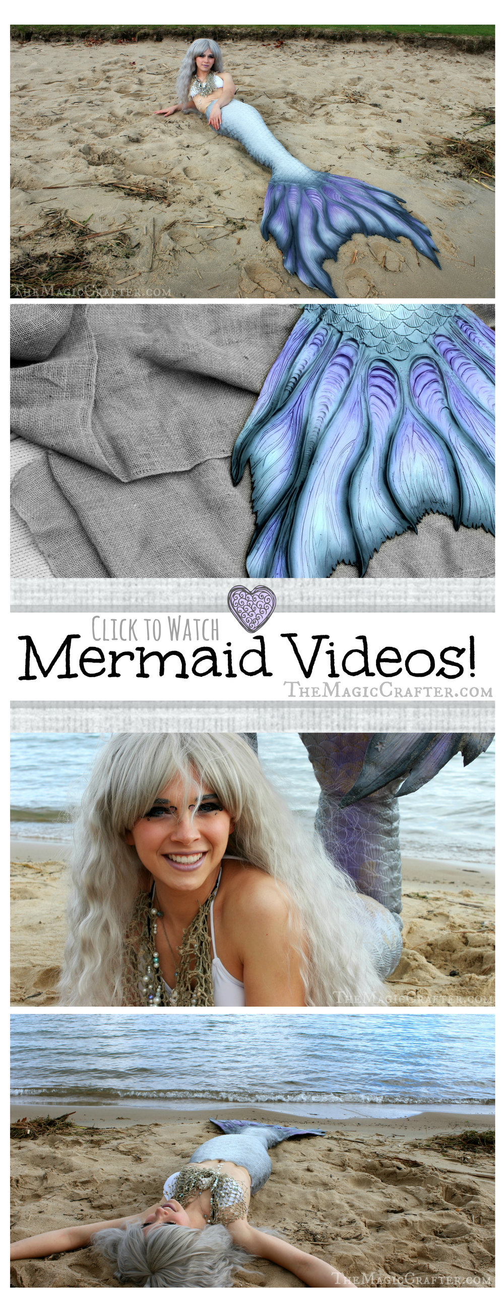 Watch videos of real mermaids and fairy tale creatures by clicking the image!