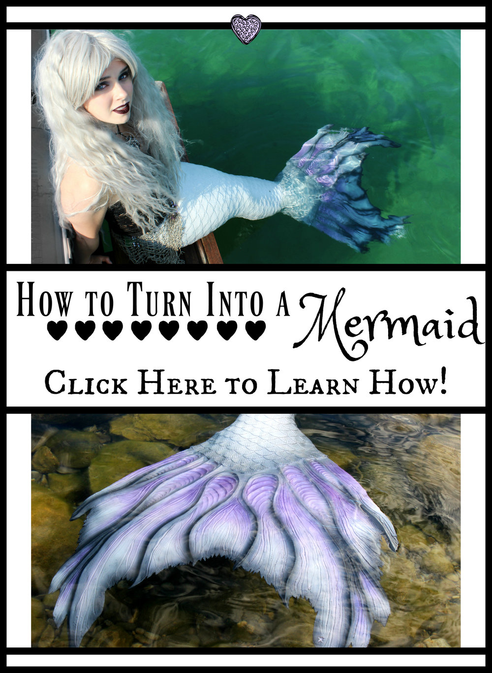How to turn in to a Mermaid without a Magic Spell: How do you become a real mermaid? Read this blog post to find out how you can transform yourself into a mermaid or merman in 4 EASY ways. (Must be 18 years or older to read, unless you have and adult with you please! ♥)