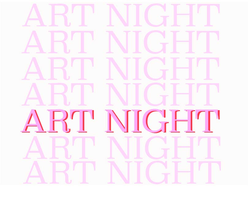 Art Night    - - January 12 + 13, 2018 - The first Art Night of 2018 has arrived! The event is back with new artists, a new ticket price, and is being produced by the brand new artists collective The Myriad. Rachel is hosting the event as well as displaying her original poetry.