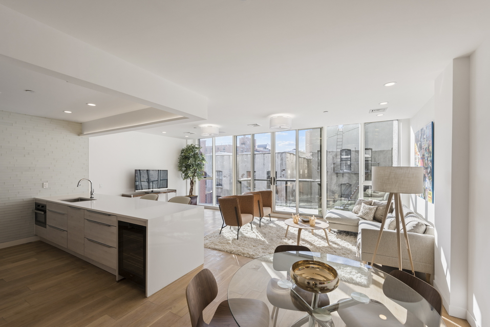 Wide Open Living Room in new luxury condo