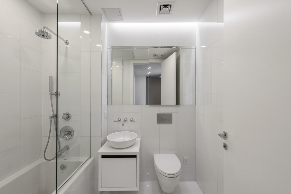 Bathroom inside luxury condo