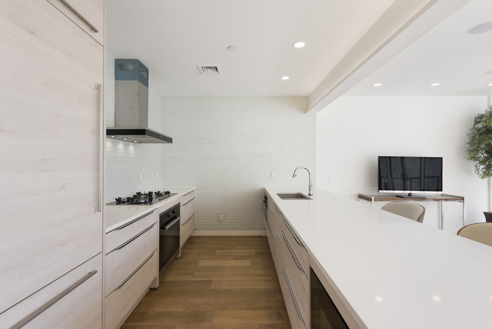 Wide open kitchen space