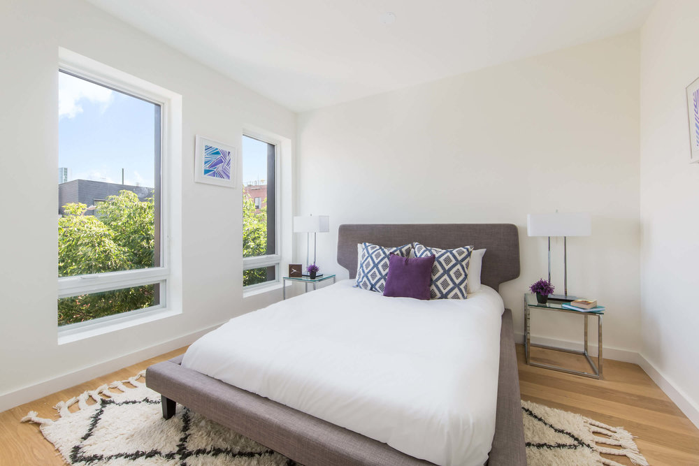 Master Bedroom in Carroll Street luxury apartment