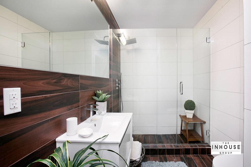 Full view of bathroom design