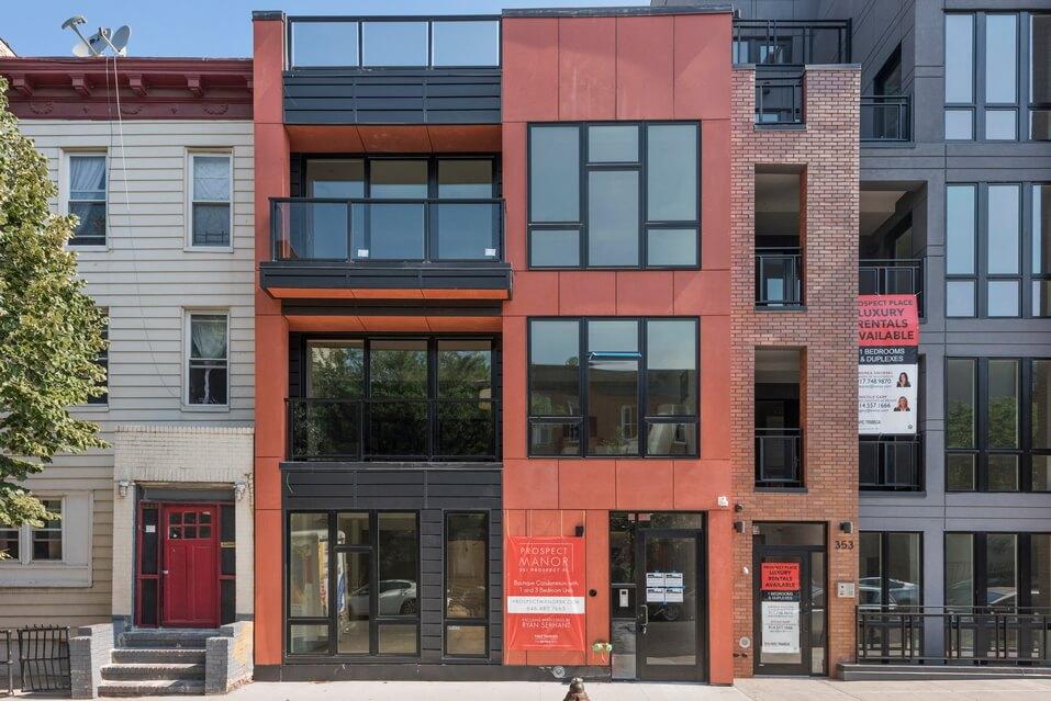 Facade of a Beautiful Brooklyn Brownstone