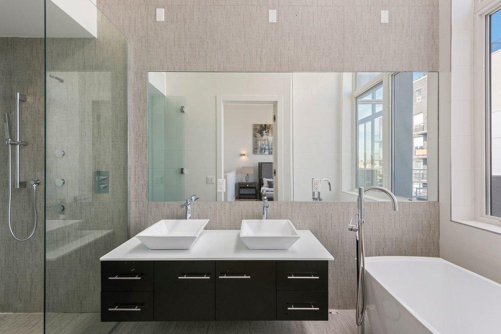 Sleek and Modern Master Bathroom Design