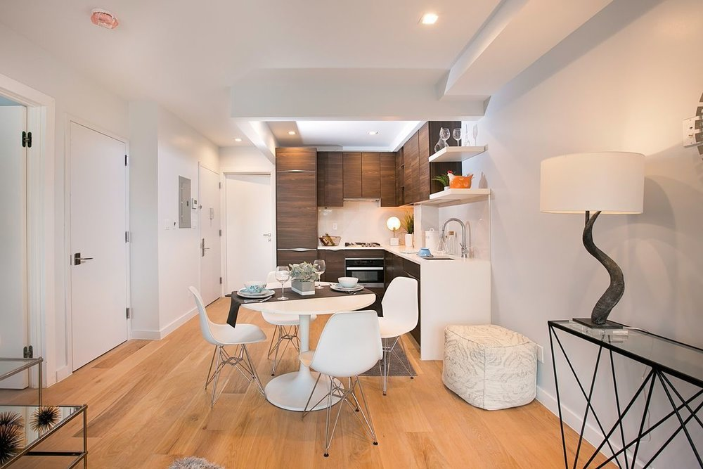 This multi-unit real estate development in offers a living room that is a true escape from the hustle and bustle of NYC.
