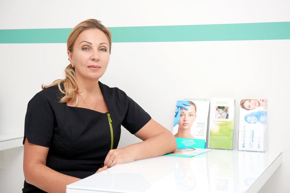 Portrait of Doctor Lana Tattum in London Clinic. Photo credit: Dan Korkelia