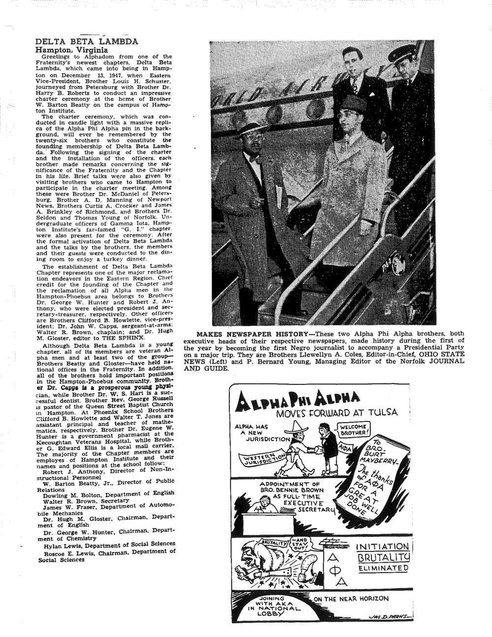 Zeta Lambda 1947 Newspaper Heads and DBL.png
