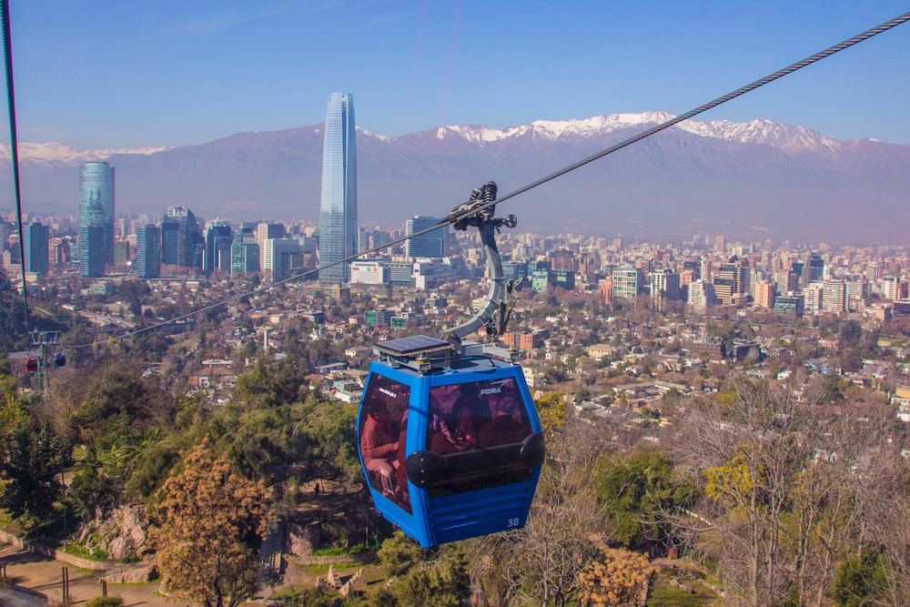 The small price we paid to ride this tram was well worth the beautiful view we got of Santiago, Chile and The Andes mountains!
