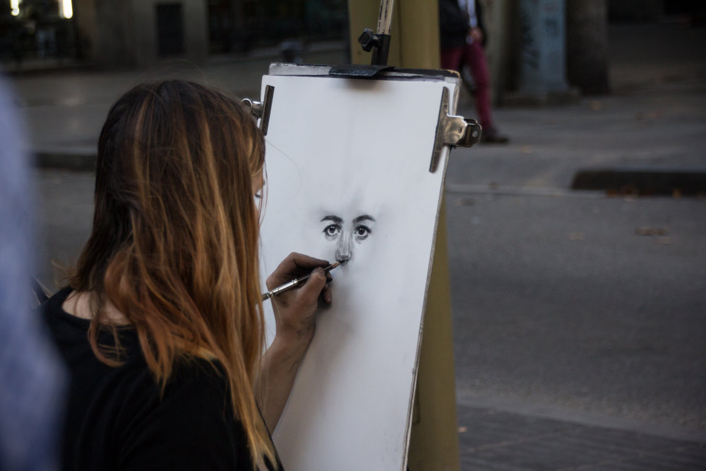 "If this type of ""street art"" is more your style, you can find artists in any major city wanting to draw your portrait or caricature!"