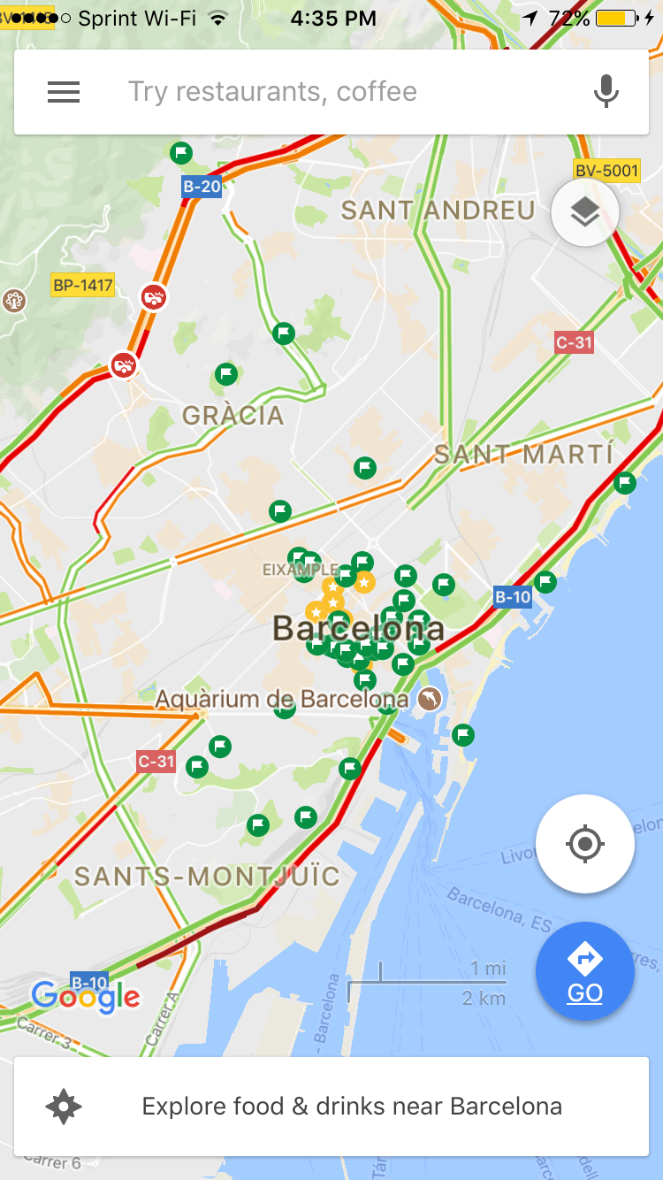Here is an example of our Barcelona map